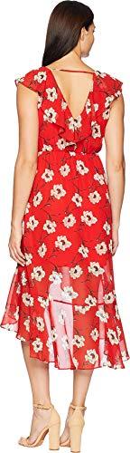 Americano Rosso Donne Rosa Wrap Keva Volant Dress 7nAPrq76