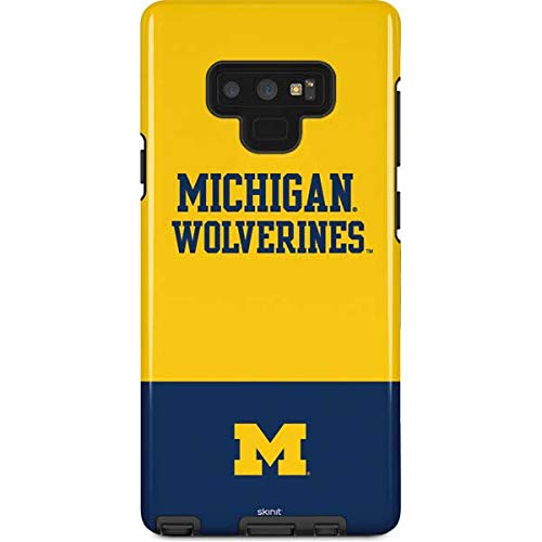 Skinit University of Michigan Galaxy Note 9 Pro Case - Michigan Wolverines Split Design - High Gloss, Scratch Resistant Phone Cover