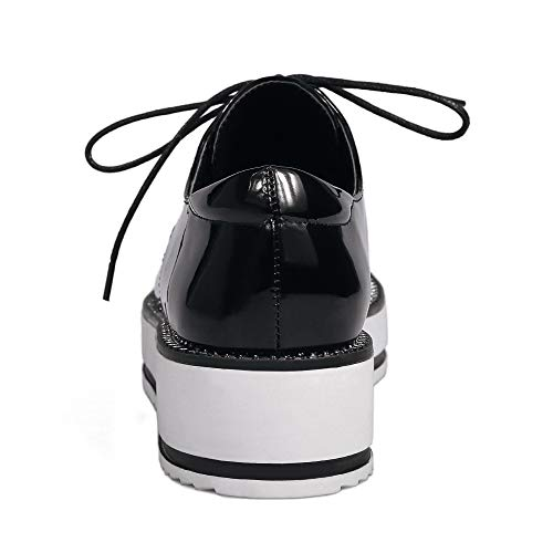 Basso GMMDB006397 AgooLar Donna Allacciare Flats Nero Puro Ballet Tacco TZqqEWwpH