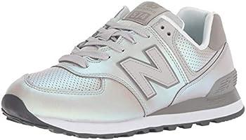 New Balance Kadın 574 Moda Ayakkabı, Gümüş, 37-38