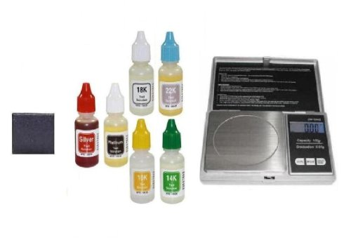 Test Your Coins Without Damaging Them. PuriTEST Box of Acid Solutions, Testing Stone, and Electronic Scale Machine with