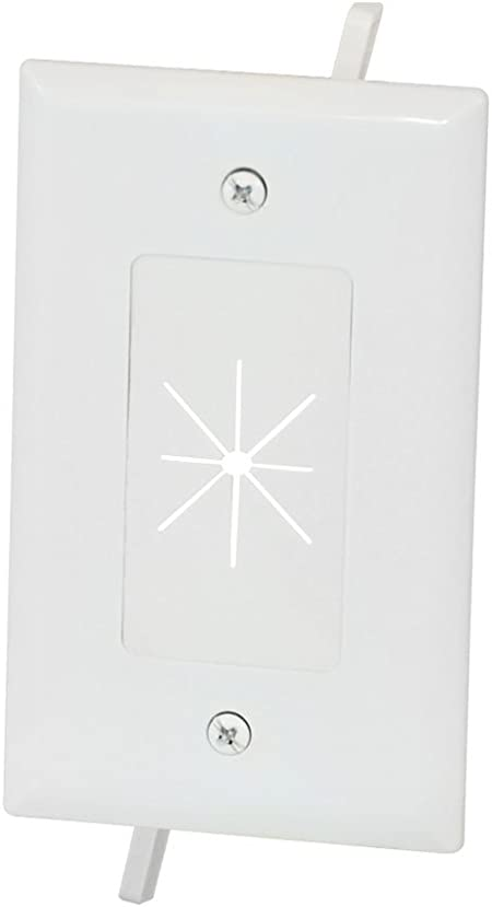Amazon Com Monoprice Cable Plate With Flexible Opening 1 Gang White 112584 Computers Accessories