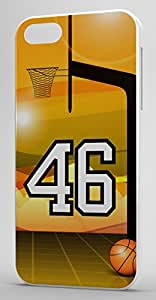 Basketball Sports Fan Player Number 46 White Rubber Decorative iphone 6 4.7 Case