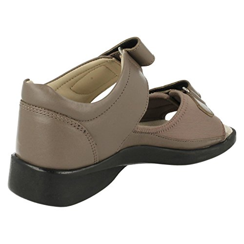 Ladies Equity Wide Fit Sandals - Jasmine Taupe a09fmvty