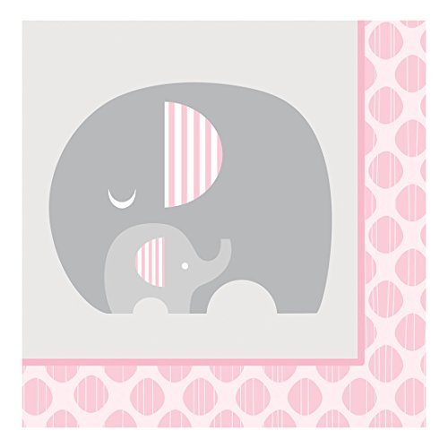 Creative Converting 316942 16 Count Paper Lunch Napkins, Little Peanut- Girl (Baby Lunch Napkins)