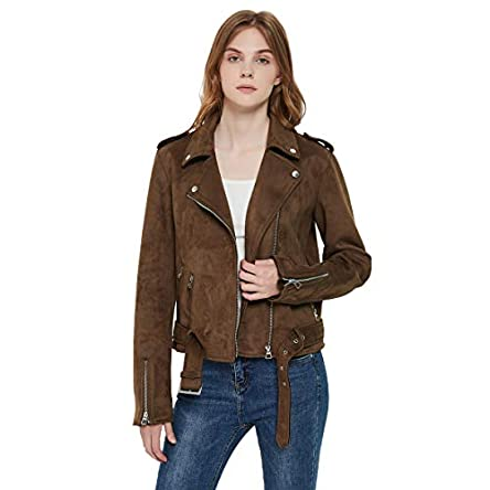 Charis Allure Women's Faux Suede Leather Moto...