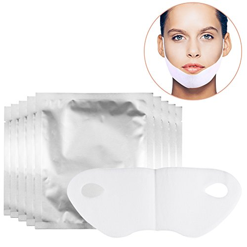 20 Pcs V-shaped Thin Face Hydrotherapy Mask Patch for Neck and Chin Lifting Anti-aging, Reduce Wrinkle, Dark Spots, and Fine - Face Shaped V