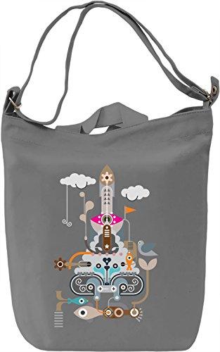 Rocket Borsa Giornaliera Canvas Canvas Day Bag  100% Premium Cotton Canvas  DTG Printing 