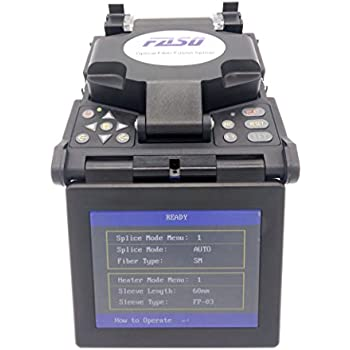 FASO Core to Core Fusion Splicer 5 Inch LCD Fiber Optic Fusion Splicer Fiber Optic FS-4108S Single Heater High Precision Fusion Splicer Kit with Drop Cable ...