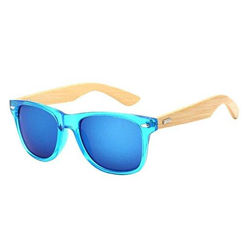 de Aire Bambú Resina E Gafas YANKAN y Marco de o para Ultravioletas Sol para al Lentes Libre la Gafas Mujeres Hombres Conducción Anti de w7An1OfqA