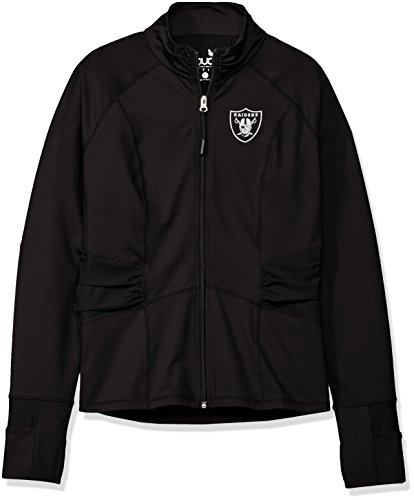 NFL Oakland Raiders Women's Sideline Athleisure Track Jacket, X-Large, (Oakland Raiders Womens Jackets)