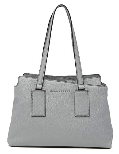 Marc Jacobs Double Edge Leather Satchel Shoulder Bag, Storm Grey