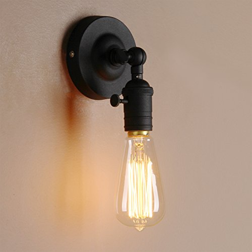 Pathson Loft Vintage Wall Lamp 1 Head With Candlestick Molding Design  Industrial Rustic Retro Wall Light ...