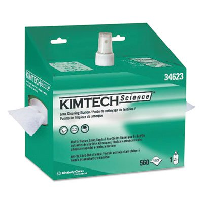 Kimtech 34623 Lens Cleaning Station, 8oz Spray, 4 2/5 X 8 1/2, 560 per Box (Case of 4 Boxes)