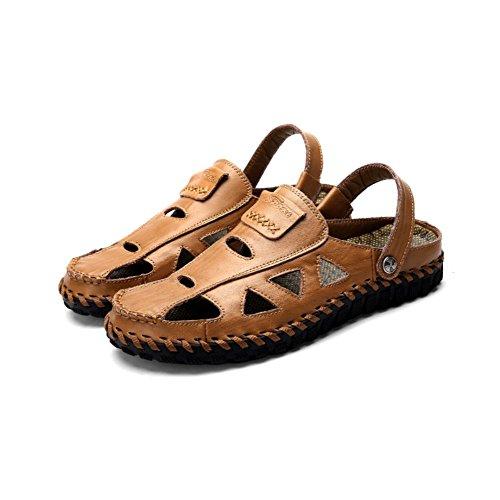 A Pozos Yellow Sandalias Mano Los Casuales Cosidas Moda La De Respirables Dos Lyzgf Zapatillas Hombres 1g7xw