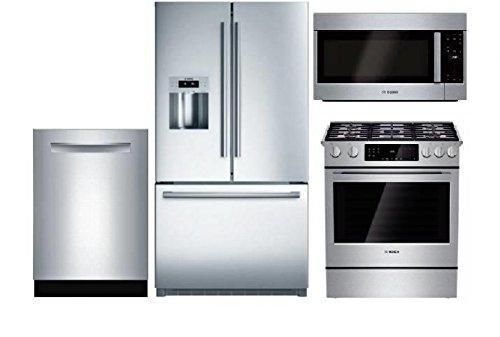 Kitchen Suites Gas Amazon bosch kitchen package dishwasher refrigerator gas bosch kitchen package dishwasher refrigerator gas range and microwave workwithnaturefo
