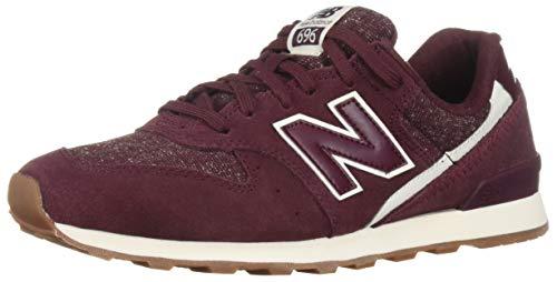 New Balance Women's 696v1 Sneaker, Nubuck Burgundy/sea Salt, 7 B US