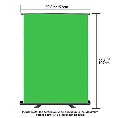 Neewer Green Screen Backdrop, Pull-up Style, Portable Collapsible Chromakey Background with Auto-locking Frame, Wrinkle-resistant Fabric,Solid Aluminium Base, for Photo Video, Live Game,Virtual Studio by Neewer (Image #4)