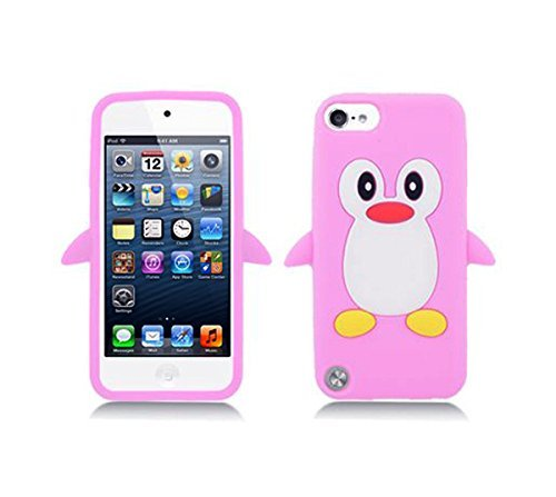Penguin Silicon Case - Tsmine Apple iPod Touch 6th Generation Penguin Cartoon Case - Cute 3D Penguin Soft Silicone Back Washable Cover Case Protective Skin for iPod Touch 6 6th Gen, Baby Pink