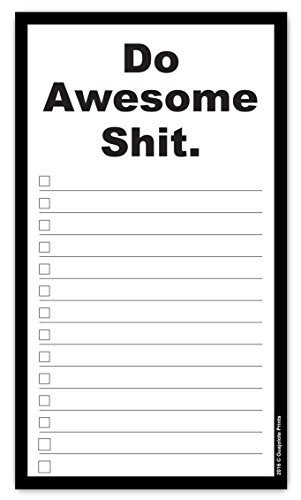 Do Awesome Shit Grocery List Magnetic Groceries Pad 4.25 x 7.5, (Funny Refrigerator)