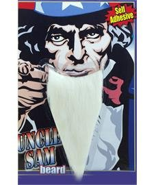 Forum Novelties 61769 Uncle Sam Beard White, One Size, Multi, Pack of 1