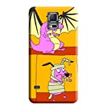 Phone Skins Classic shell Courage the Cowardly Dog Specially Protective Stylish Cases Samsung Galaxy S5