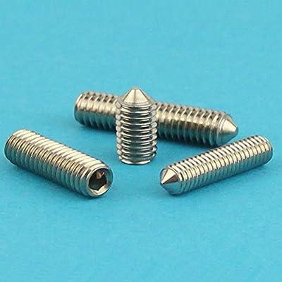 ISO 4028 Eisenwaren2000 M6 x 35 mm Gewindestift mit Innensechskant und Zapfen rostfrei Gewindeschrauben 50 St/ück - Madenschrauben DIN 915 Edelstahl A2 V2A