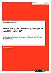 Entwicklung Der Community Colleges in Den USA Nach 1945