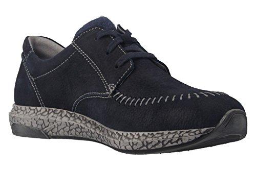 Josef Seibel Lia 01, Zapatos de Cordones Derby para Mujer Azul - Blau (Ocean 590)