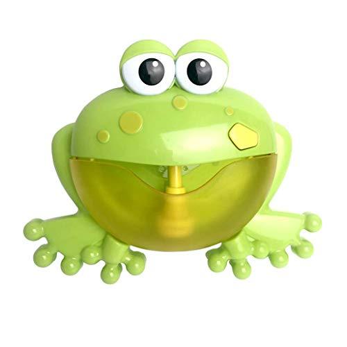 AutumnFall Baby Frog Bubble Machine Bath Bubble Making Machine 12 Music Song Bath Bathtub Toys (Green)