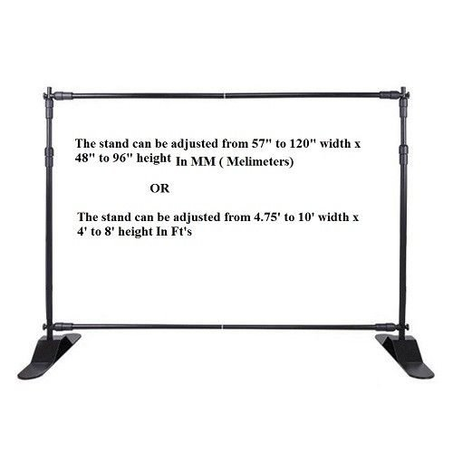 Photo Backdrop Banner Adjustable Stand 10 X 8 with Telescopic Poles for Trade Show Display Stand, Step and Repeat Frame Stand, Photography Booth - Carrying Case Free by BANNER BUZZ MAKE IT VISIBLE (Image #3)