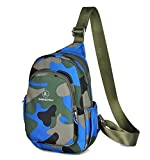 Women Girl's Outdoor Sports Camouflage Casual Lightweight Backpack Waterproof Nylon Chest Bag Multi-functional Durable Sling Crossbody Bag Shoulder Bag Satchel Review