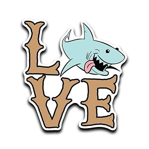 More Shiz Shark Love Vinyl Decal Sticker Car Truck Van SUV Window Wall Cup Laptop MKS0644 One 5 Inch Decal