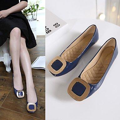 Cómodo y elegante soporte de zapatos de mujer Pisos Pisos charol de primavera verano otoño Casual Flat Heel otros negro azul rosa otros negro