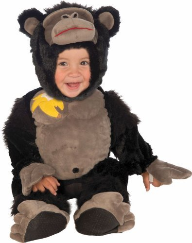 Forum Novelties Baby Boy's Plush Cuddlee Gorilla Costume, Multi, Infant for $<!--$25.10-->