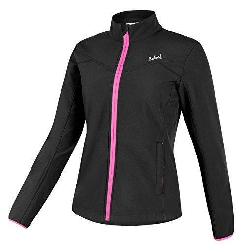 Baleaf Women's Windproof Thermal Softshell Cycling Winter Jacket Black Size M