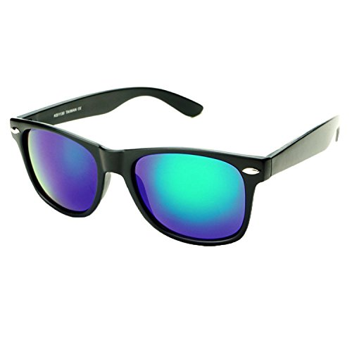 Retro Vintage Retro Classic Sunglasse COlor Mirror Lens Mens Womens Fashion (BLACK, - Bans Turquoise Ray