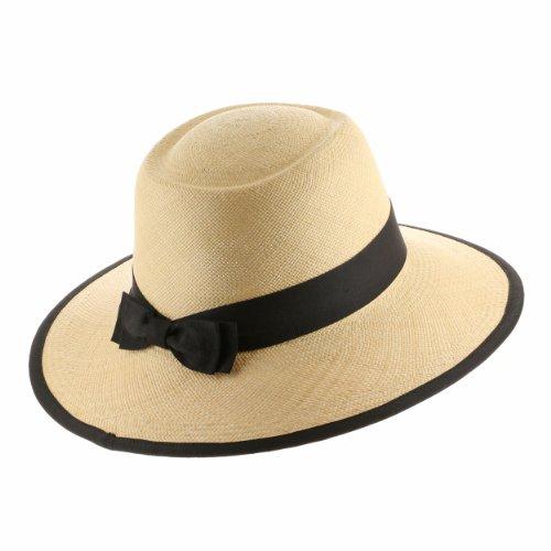 - Ultrafino Tiffany Planter Ladies Straw Panama Hat 7 1/2