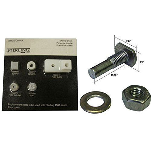 cheap Kohler Parts for Sterling 1500 and T-Bolt, Hex-Nut and Washer for Pivot Shower Door Kit