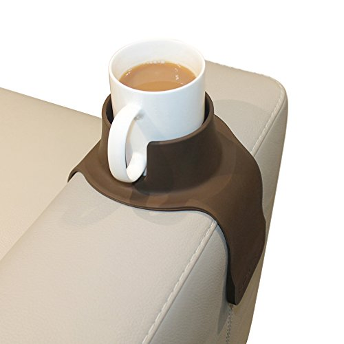 CouchCoaster - The Ultimate Anti-Spill Cup Holder Drink Coaster for Your Sofa or Couch, Mocha Brown