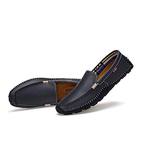 on Slip Nouveau Mocassins Cuir Mens Taille Conduite Mocassins Taille amp; Décontractés Grande 36 K Chaussures Couleur Mocassins XY4XA