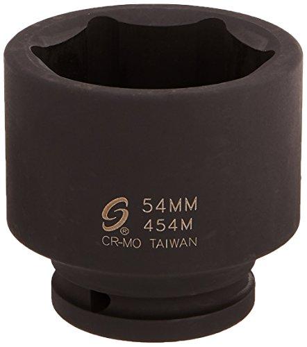 Sunex 454M 3/4-Inch Drive Standard 6 Point Metric Impact Socket 54-Mm