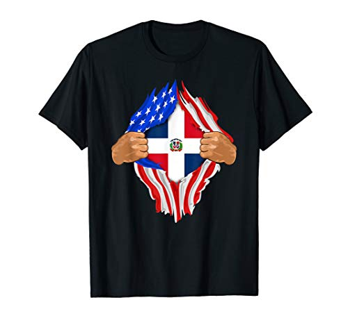 - Dominican Blood Inside Me Shirt Dominican Republic Flag Gift