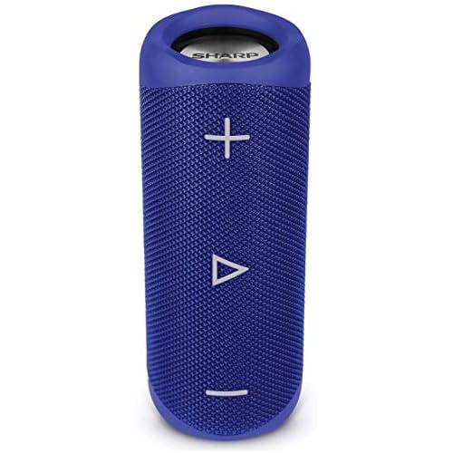 chollos oferta descuentos barato Sharp GX BT280 BL Altavoz Bluetooth portátil 20 W estéreo DSP Bajos Profundos hasta 12 Hotas Recargable Impermeable IP56 micrófono Llamadas con Voice Assistant Azul