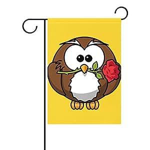 """U vida búho día de la independencia Bandera de Jardín bandera de 4th de julio de doble cara impresión poliéster 40x 2812x 18pulgadas & 3'4""""x 2"""" 4""""& 1' x 1'6"""" amarillo"""