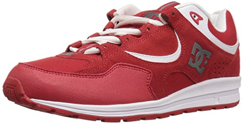 DC Men's Kalis Lite Skateboarding Shoe - Red/White - 6 D(...