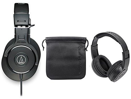 Audio Technica ATH-M30X Studio Monitor Collapsible Headphone+Headphones by Audio-Technica