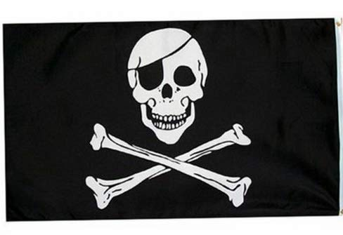 (Kaputar 2X3 Jolly Roger Pirate Eye Patch Skull Crossbones Flag 2x3 Banner Model FLG - 7589)