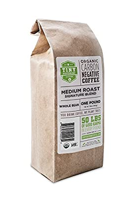 Tiny Footprint Coffee Organic Medium Roast Whole Bean Coffee, 16-Ounce Bags (Pack of 2)