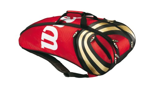 Wilson Badmintontasche BLX Tour Indoor Six, rot